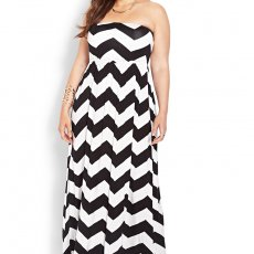 Plus size. Chevron Dress Black and White Size 2X