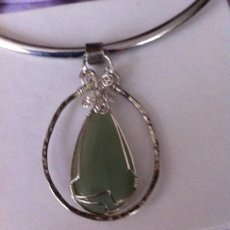 Adventurine in silver