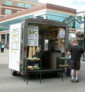 a food trailer at a small event