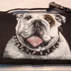 Hand painted Freezable Lunch Bag of 'Tank' an English Bulldog