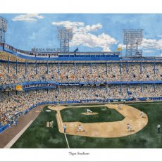 """Tiger Stadium"" Fine Art Print, 20 x 24 inches, Signed by Artist"