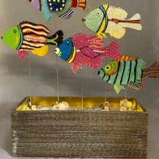 Hand painted fish accent light