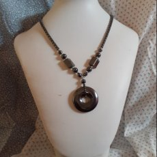 Hematite donut necklace