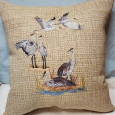 Sand Hill Cranes Pillow