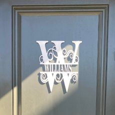 Name Monogram, Wood Monogram Sign, Custom Door Monogram, Free Shipping