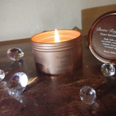 Peace Rose gold tin Candle