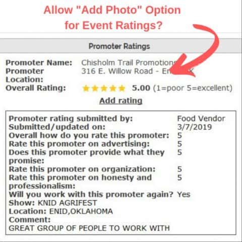 #25 Allow Add Photo Option on Event Ratings