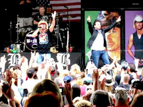 Tim Charon Singing With Bret Michaels