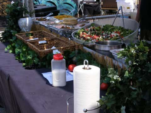 Mediterranean Catering Stand
