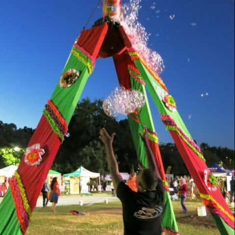 Cinco de Mayo Bubble Tower and Hand Washing Station