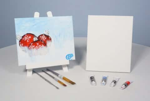 Ornaments in the SNOW Acrylic Painting KIT