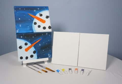 Mr. and Mrs. Snowy Acrylic Painting KIT