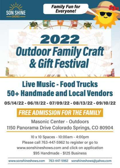 Outdoor Family, Food & Craft Festival -May