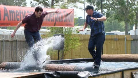 Lumberjack Show at Selmi's Farm