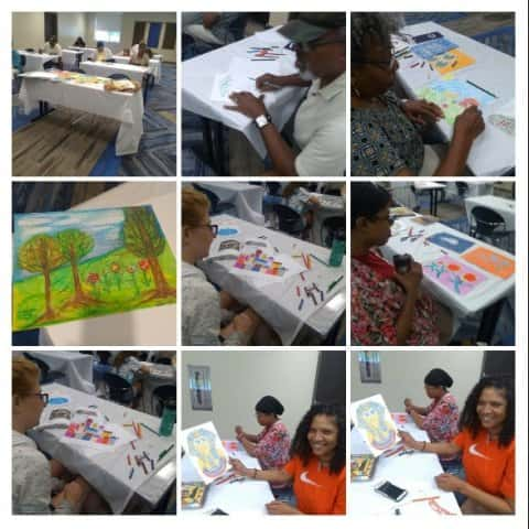 Oil Pastel Drawings Class at Ellenwood Library
