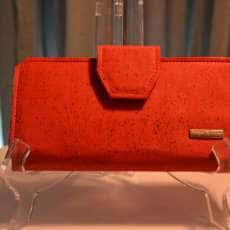 Red Cork Tall Wallet