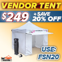 FestivalNet Members Enjoy 20% Off Tents!