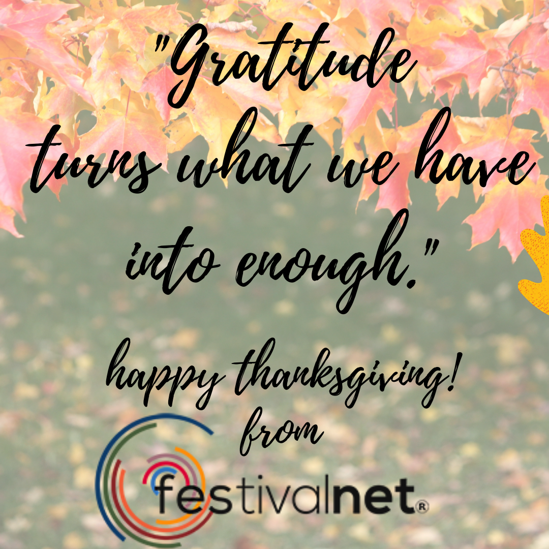 Happy Thanksgiving from FestivalNet