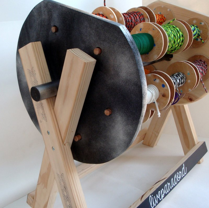 Rotating Spool Stand For Paracord Ribbon Or Wire