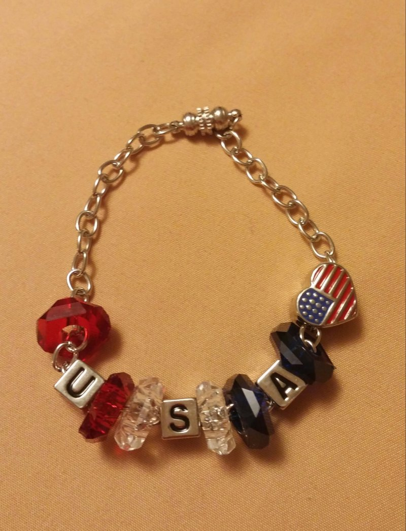 Patriotic usa charm bracelets southern charms lc for Jewelry stores in usa