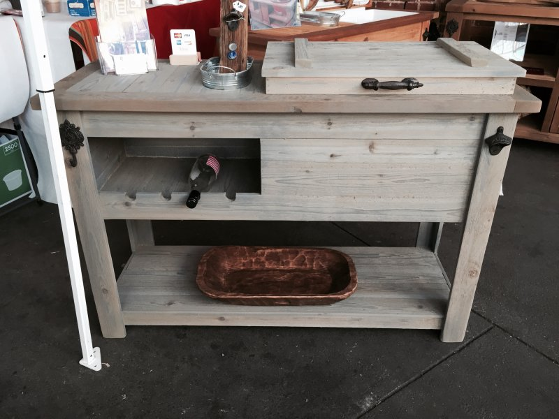 Amazing Cooler Bar Cart, Console Table, Outdoor Mini Bar, Rolling Bar, Serving Table,  Beverage Station