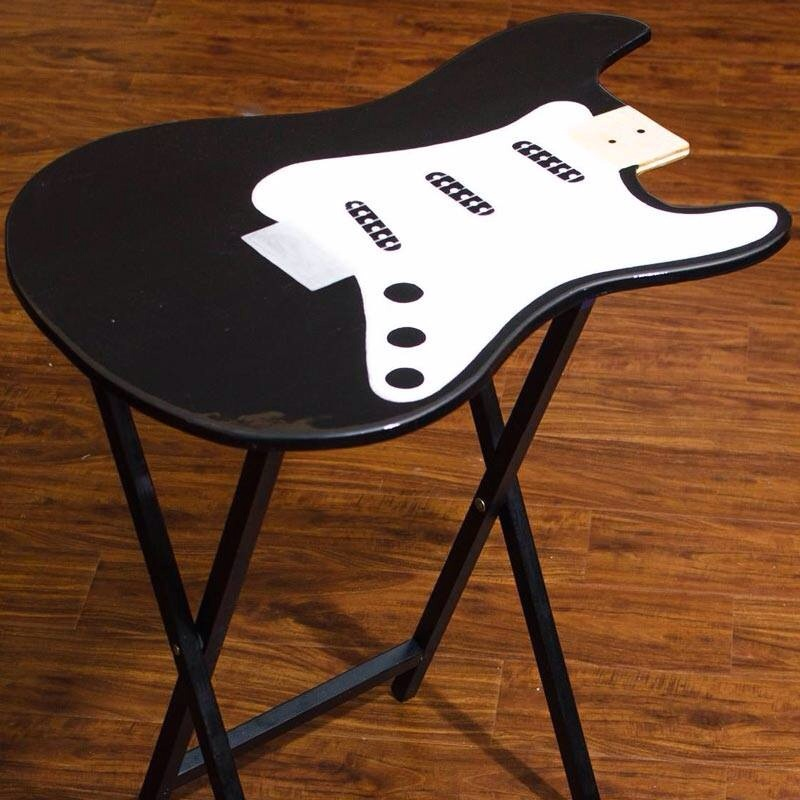 Guitar Shaped TV Fold Up Tables