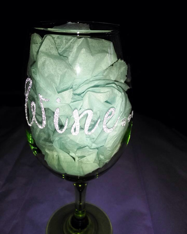 personalize wine glass lovely gems handmade gifts accessories