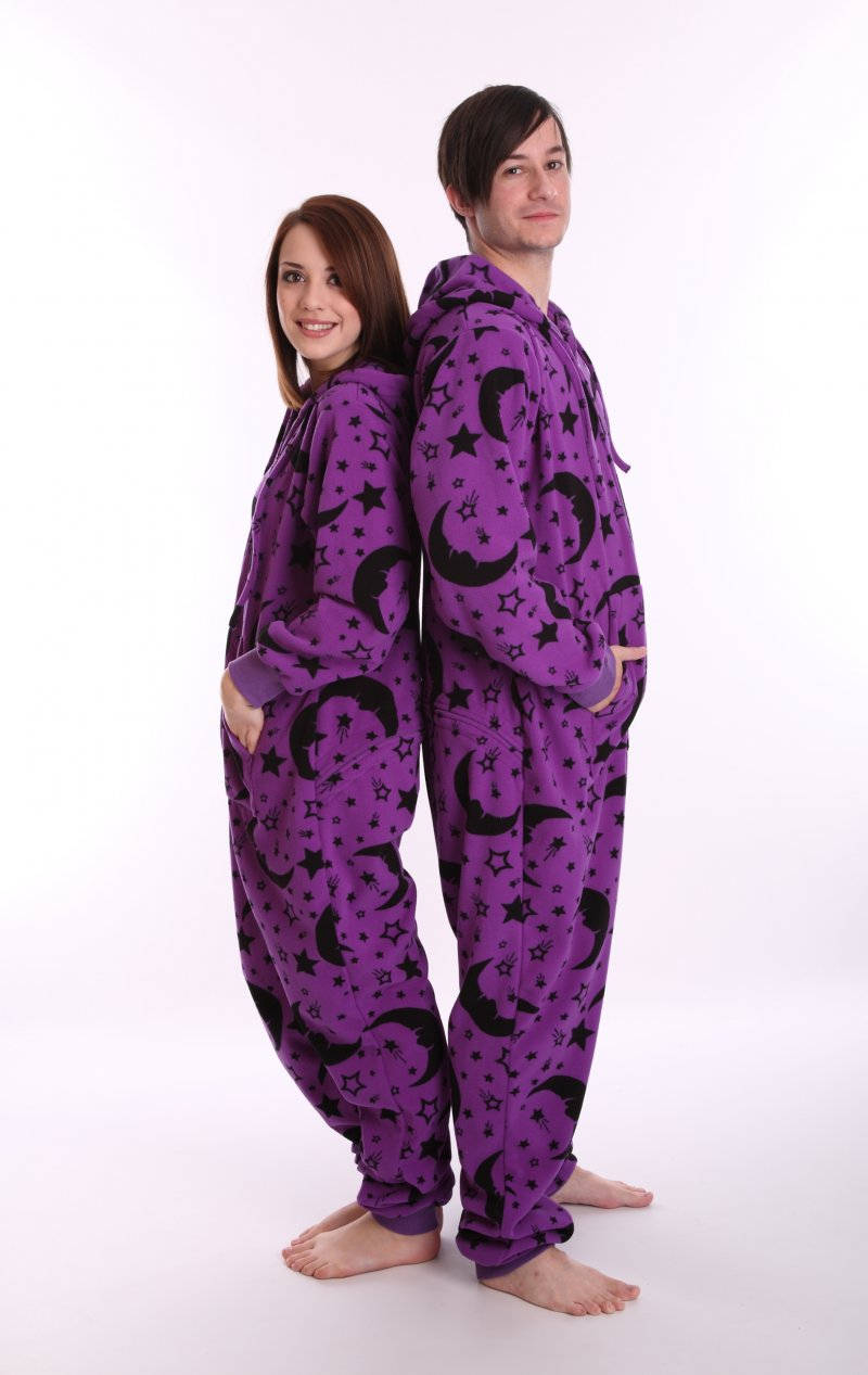 Adult Onesie Wizard Stars and Moons Style in Purple XS-XXL 56caccc1d
