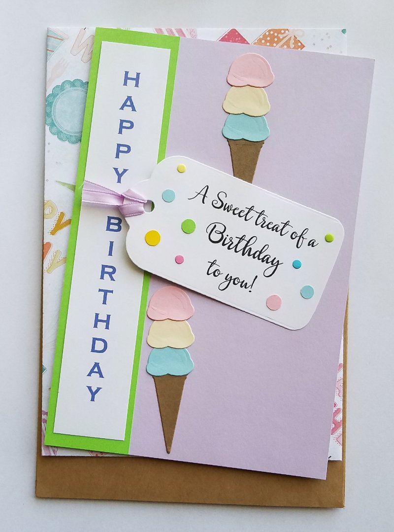 Handmade ice cream treat birthday greeting card bird chap llc handmade ice cream treat birthday greeting card m4hsunfo Choice Image