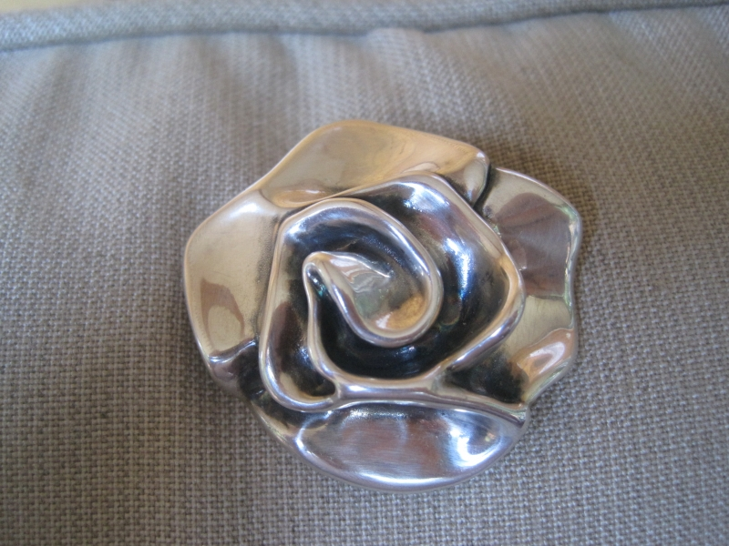 800485a20ee Antique .925 Silver Rose Brooch/Pendant by… | Jewelly Girl, Vintage ...