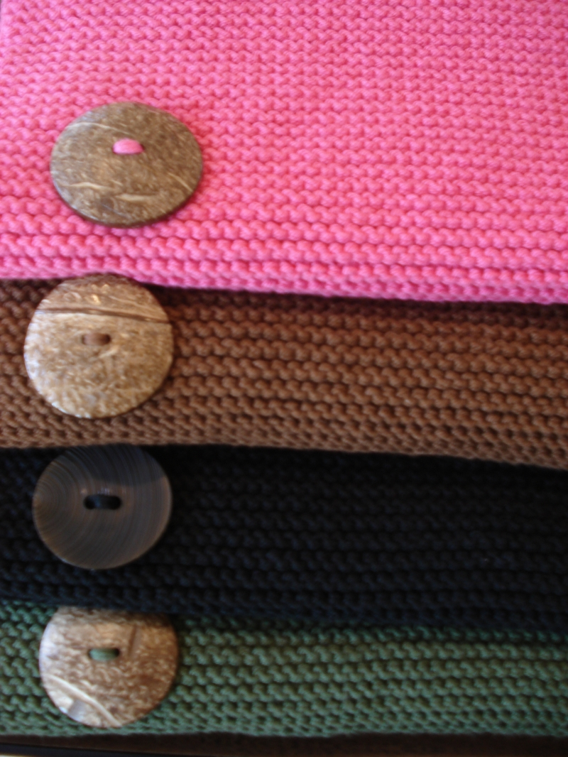 Hand knitted Egyptian Cotton 3 button shawl | Shawls By Hoda ...