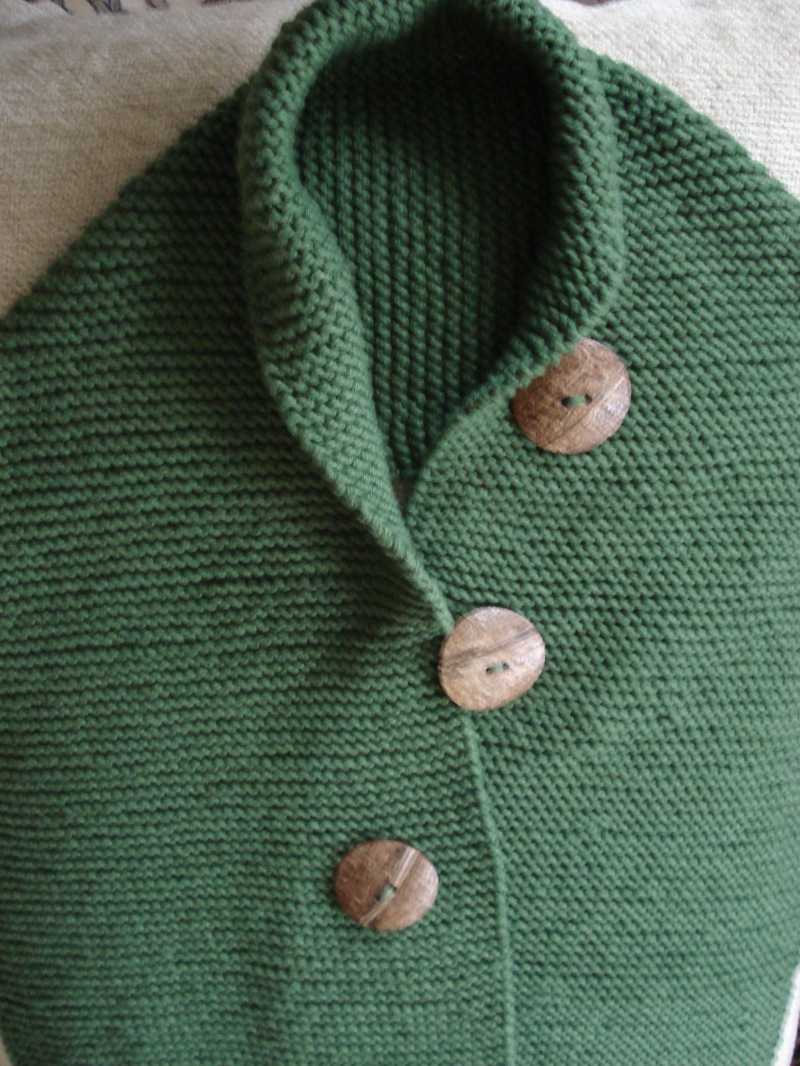 Knitting On The Net Buttonhole : Hand knitted cotton button shawl shawls by hoda