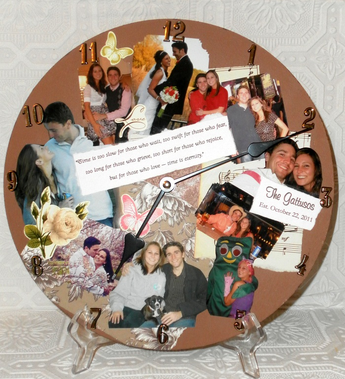 Personalized Photo Collage Memory Wall Clock Lisas Creative