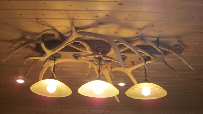 Elk Antler Pool Table Light Dsrve Handmade Lighting - Antler pool table light