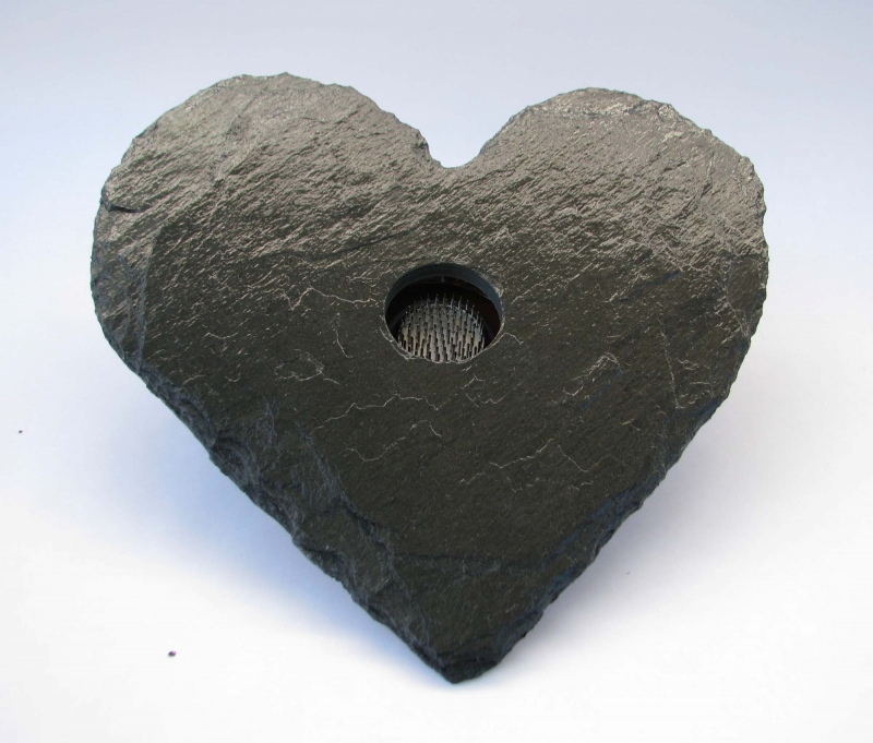 Ikebana Heart Slate Vase Designs Under The Sun Stone Sculpture
