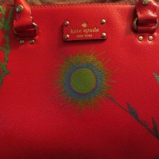 Hand Painted Abstract Floral Kate Spade Quinn Leather Bag