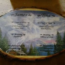 personalized plaque with name meanings