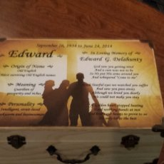 keepsake wood chest personalized
