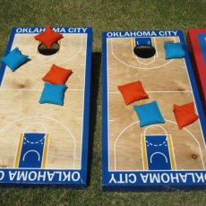 BASKETBALL COURT CORNHOLE SET
