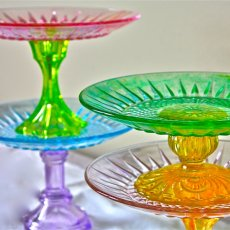 colored glass cake stands-candy colored cake stands cale stands