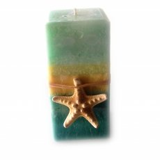 Seagrass Pillar Candle