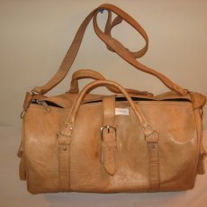Moroccan Leather Hand stitched  large travelling bag