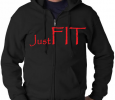 Just FIT Hooded Zipped up sweater