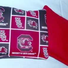 8 PC set of Corn hole Bags 4 SC Gamecocks Patch print & 4 Red game bags