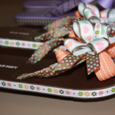 GIRLS AND TODDLERS RIBBONED FLIPFLOPS