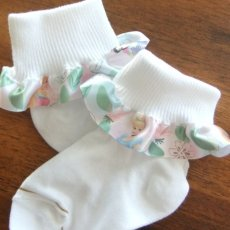 INFANT AND GIRLS HAND RUFFLES ANKLE SOCKS