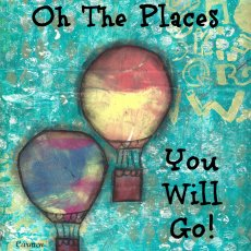 "Oh The Places You Will Go, 8"" x 10"" mounted print"