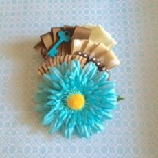 Blue Gerber daisy fascinator