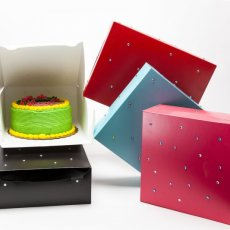 Rhinestone Decorated Cake Boxes