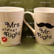 MR. Right & Mrs. Always Right Coffee Mugs